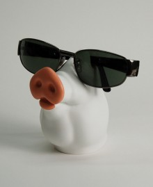 PIG Glasses Holder, Table glasses holder, Pig snout in surreal style. Antartidee