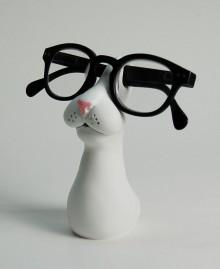 GATTO PORTAOCCHIALI Porta occhiali da tavolo, muso di gatto in stile surreale.  Antartidee