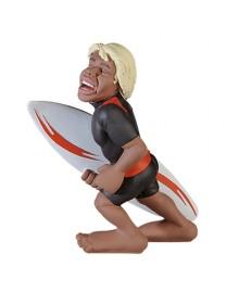 Surf sport, statua di surfista decorata a mano, Antartidee
