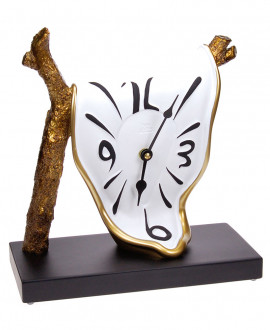 BRANCH CLOCK Table clock German UTS quartz clock mechanism. Antartidee