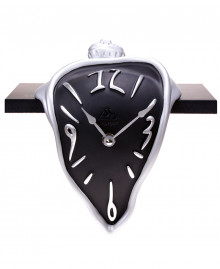Surrealist style shelf clock, table clock. German UTS quartz clock mechanism. Antartidee Made in Italy