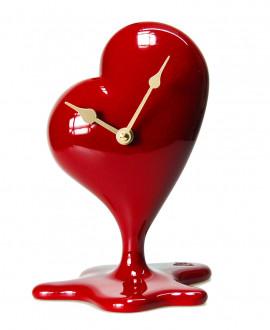 FUSING HEART CLOCK Table clock with a loose heart German UTS quartz clock mechanism. Antartidee