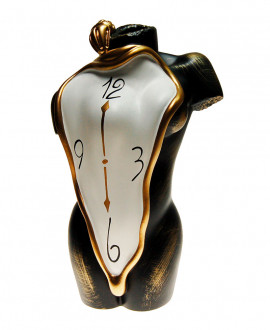 Vase in the shape of a female body, Greek statue of Venus with clock Antartidee