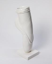 vaso a forma di scarpetta da ballerina, colore oro, Antartidee