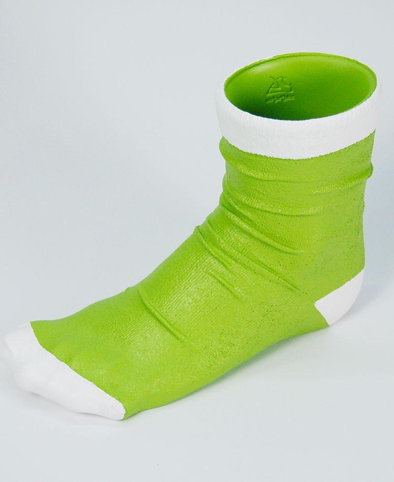VASO CALZINO Vaso a forma di calzino colorato in resina decorata a mano Antartidee
