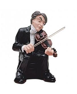 VIOLINO, Violinista orchestra, statua decorata a mano, Antartidee