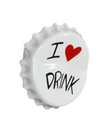 Hanger shaped, cap of beer bottle, gift ideas, I Love Drink, hand made by Antartidee