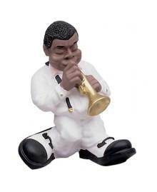TROMBA, Jazz Band, hand-made in Italia, scultura decorata a mano, Antartidee