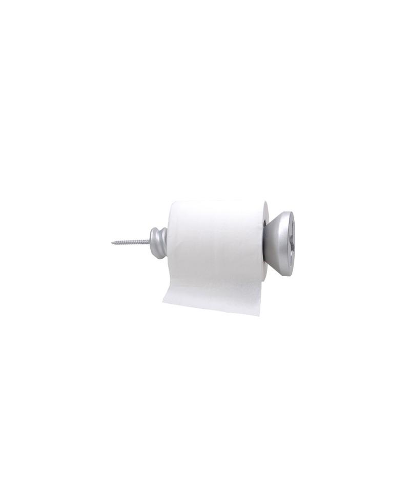 SCREW ROLL HOLDER,  Toilet roll holder, Wall roll holder in hand painted resin. Antartidee