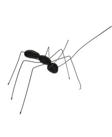 XY MALE ANT, Table / wall ant. Hand painted resin and metal. Color black. Made in Italy by Antartidee