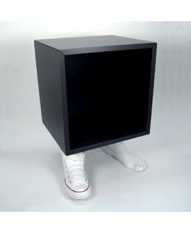 Tables Star Cube bedside. Foot-shaped base with sneakers. Antartidee