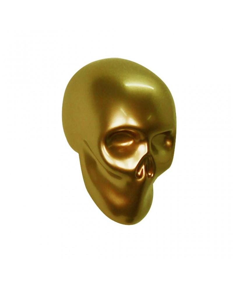 Appendiabiti in resina a forma di teschio, color oro, Antartidee