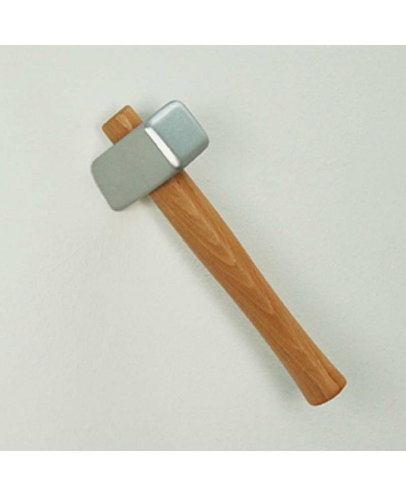 MARTELLO APP Appendiabiti da parete a forma di martello in Resina lavorata a mano. Made in Italy, Antartidee