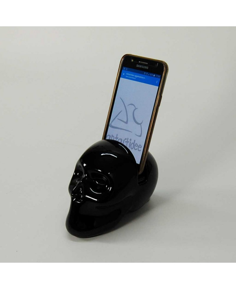 Teschio nero porta tablet / smartphone, Antartidee