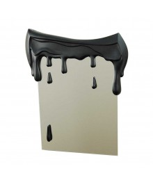 SPECCHIO NARCISO Specchio con rifinitura in resina lavorato a mano. Colatura di colore in stile surreale. Antartidee