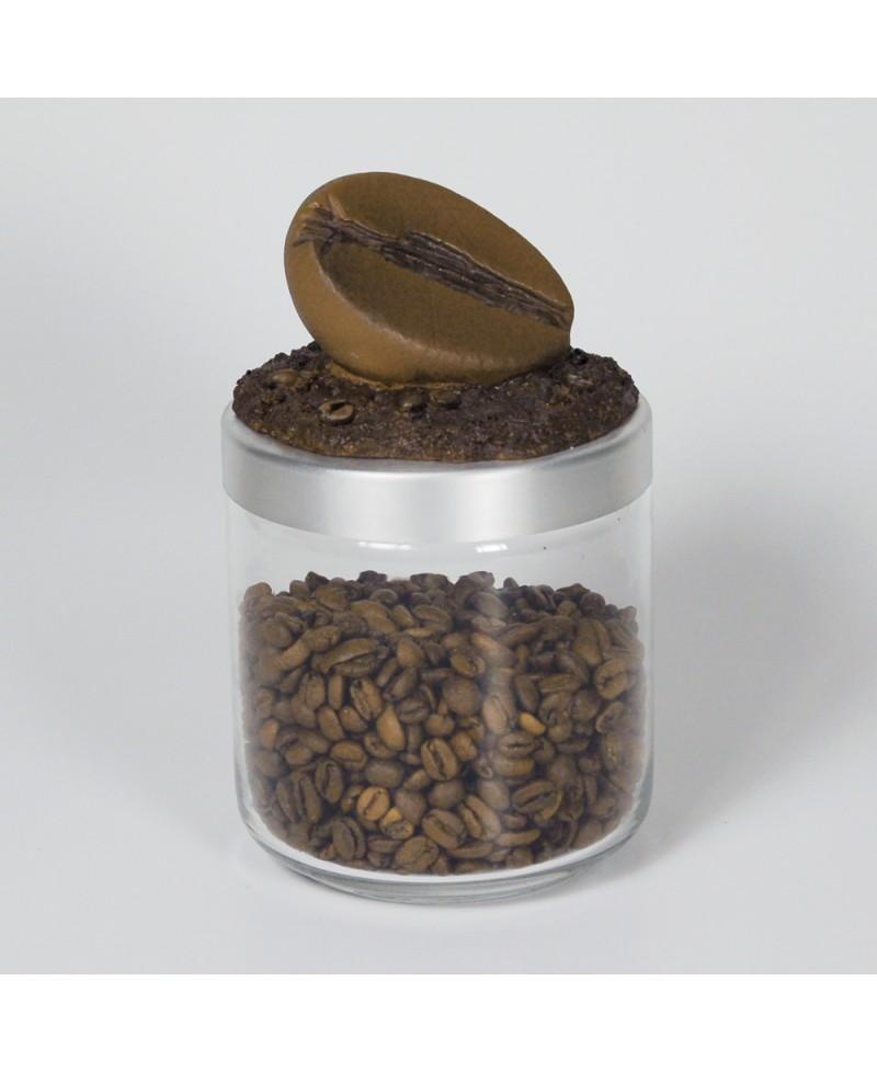 BARATTOLO CAFFE, Barattolo caffè con coperchio a forma di chicco, Antartidee