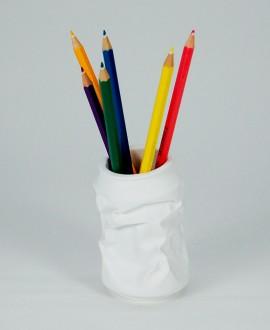 Lattina portaoggetti bianca, portamatite. Antartidee