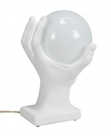 Table lamp hand shaped holding a sphere. Antartidee