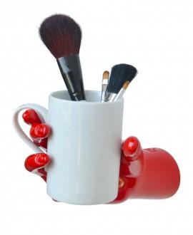 Mug Holder, hand-shaped holder in handmade resin. Antartidee