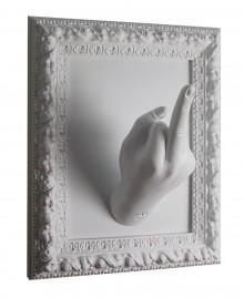 MIDDLE FINGER FRAME Frame wall coat-stand.