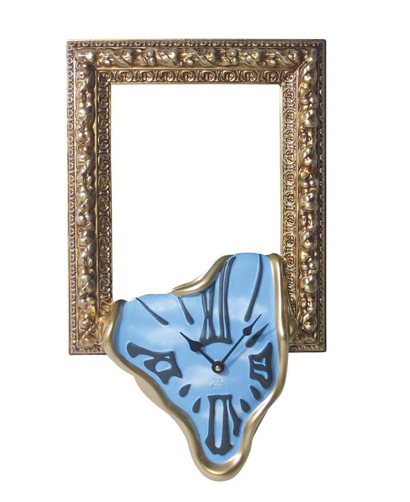 FRAME CLOCK / MIRROR CLOCK Wall clock with photo frame or mirror in handmade resin. Antartidee