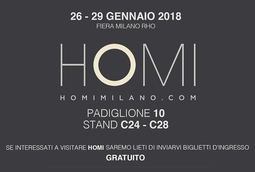 26 - 29 January 2018 HOMI fiera Milano Rho